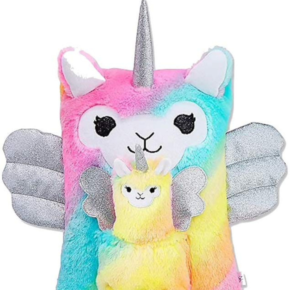 Perfect Gift! NWT Justice Glitter Llamacorn Mini Backpack